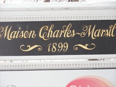 Panneau placé a gauche de la Maison Marcil.  Panel placed on the left of the house Marcil.