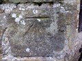 Image for Cut Bench Mark on St. Andrew & St. Mary Church, Fletching, Sussex.
