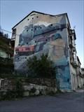 Image for Mural emigración - Os Peares, A Peroxa, Ourense, Galicia, España