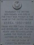 Image for Luke 12:6 - Korea Memorial Plaque - Stoke, Stoke-on-Trent, Staffordshire, UK.