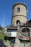 Image for OLDEST -- stone look-out tower in country, Klet, Czech Republic
