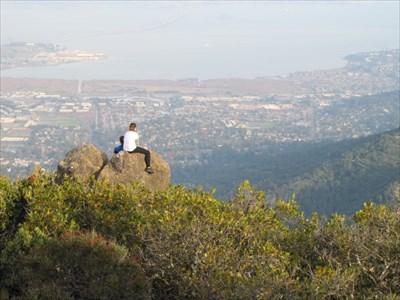 Lookout Rock with San Rafael Bridge, Marin County, CA