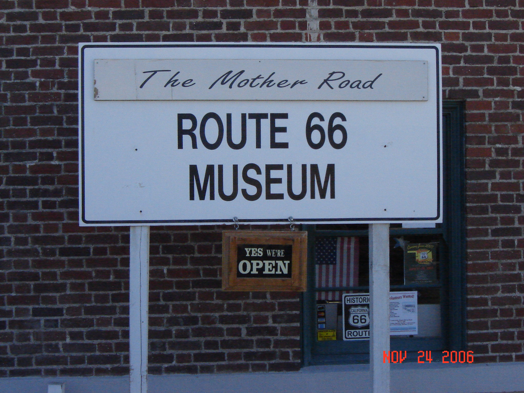 "route 66 ""mother road"" museum - barstow, california image"