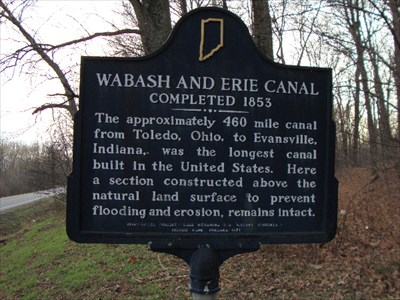 Wabash And Erie C Completed 1853 Indiana Historical Markers On Waymarking Com