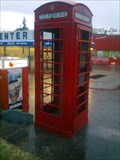 Image for Red Telephone Box in Vernier, Switzerland