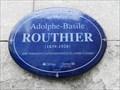 Image for Plaque bleue de Adolphe-Basile Routhier, Québec, Qc, Canada