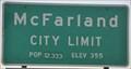 Image for McFarland ~ Population 12,333