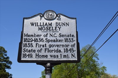 William Dunn Moseley F 42 North Carolina Historical Markers On