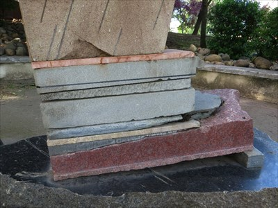 Lower part of the stacked slabs