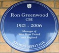 Image for Ron Greenwood - Green Street, London, UK