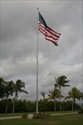 Image for W.W.II Vets of China, Burma, India Memorial Flag Pole -Fort Myers,FL