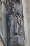 Image for Monarchs - Queen Anne On Side Of City Hall - Bradford, UK
