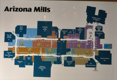arizona mills mall entry 5 directory you are here maps on