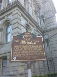 OH Historical Marker - Shelby County Courthouse
