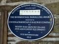 Image for Woodybay Station Blue Plaque - Devon, UK