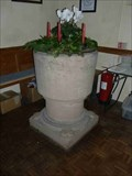 Image for Stone Font, Holy Trinity Church, Trimpley, Worcestershire, England