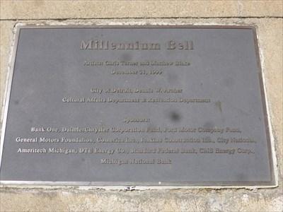 Woodward Avenue - Millennium Bell - Detroit, Michigan.