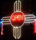 Image for Zia Sun Symbol - Neon - Route 66, Albuquerque, New Mexico, USA