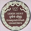 Image for Leigh Hunt - Upper Cheyne Row, London, UK