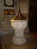 Image for The Font - Parish Church of All Saints - Sudbury, Ashbourne, Derbyshire, England, UK.