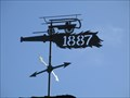 Image for Mendocino Volunteer Fire Department Flame Weather vane - Mendocino, CA