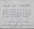 Image for Plaque de l'Allée des Huissiers - Montréal, Québec