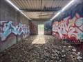 Image for Abandoned Blue Building graffiti - Cumberland, RI