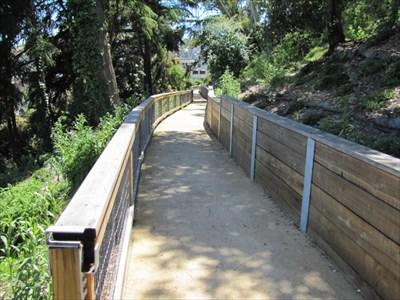 Walled Pathway, Buena Vista Park, San Francisco, CA