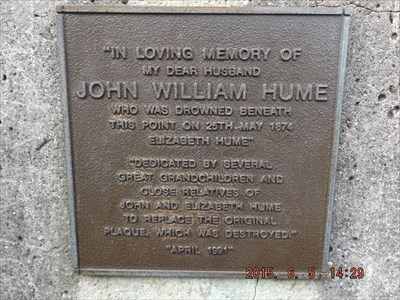 Plaque for John Hume, on the obelisk