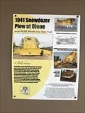 Image for 1941 Snowdozer Plow at Olene - Olene, OR