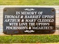 Image for Thomas and Harriet Upton and Arthur and Mary Clissold dedicated bench - The Villages, Florida