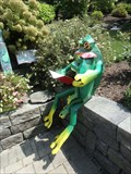 Image for Frog reading to frog child - Binghamton, NY