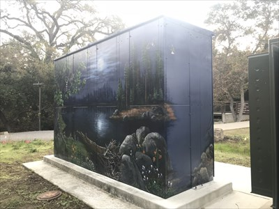 Back Side of Large Utility Box, Saratoga, California