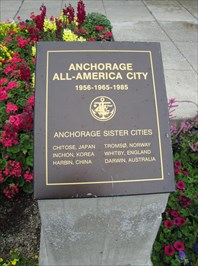 Anchorage Sister Cities Plaque - Anchorage, Alaska - Sister City ...