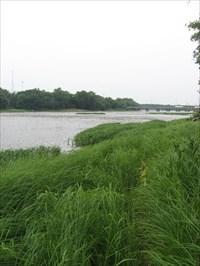 Downstream view towards I-55
