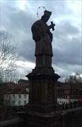 Image for Nepomukfigur auf der Oberen Brücke - Bamberg, Bayern, Deutschland