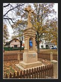 Image for Cross on the village square - Lovcice, Czech Republic