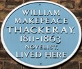 Image for William Makepeace Thackeray - Albion Street, London, UK