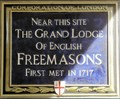 Image for FIRST - Meeting of The Grand Lodge of English Freemasons - St Paul's Churchyard, London, UK