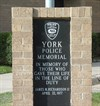 York Police Memorial monument.  Photo taken Oct. 2, 2009.