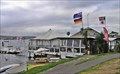 Image for Flags at 2 Mile Bay Water Sports Centre, Taupo. North Is. New Zealand.