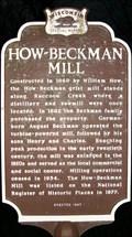Image for How-Beckham Mill Historical Marker