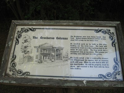Crocheron Mansion information sign.