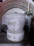 Image for Norman Font - Church of St Hilary,  Vale of Glamorgan, Wales