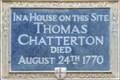 Image for Thomas Chatterton - Brooke Street, London, UK