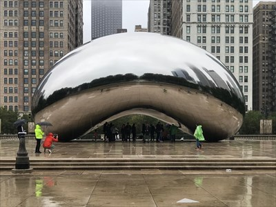 Cloud Gate, Straight On, Chicago, Illinois