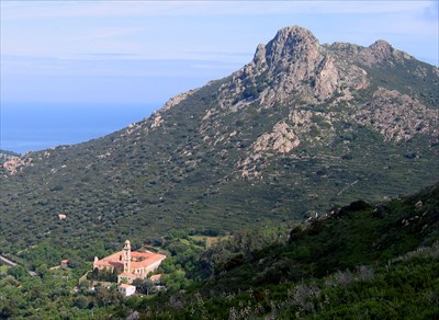 There is a great trail from San Antonio to the monastery that gives you this view of the location below Mt San Antonio. The climb to the summit is optional.