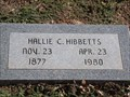 Image for 102 - Hallie C. Hibbetts - Fairlawn Cemetery - OKC, OK