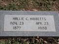 Image for 102 - Hallie C. Hibbetts - Fairlawn Cemetery - OKC, OK