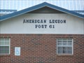 Image for Post 61 American Legion - Mountain City Tennessee